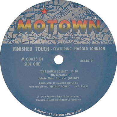 FINISHED TOUCH - the Down Sound/Need to know You better - 12 inch x 1